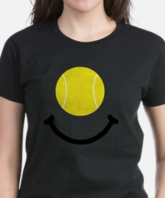 Tennis Smile Black Tee