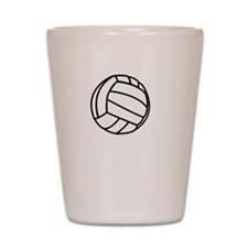 Volleyball Smile White Shot Glass