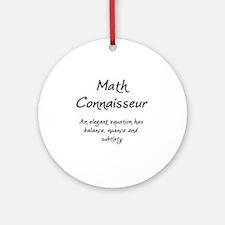 MathConnaisseur-1-blackLetters copy Round Ornament