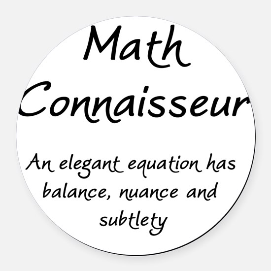 MathConnaisseur-1-blackLetters co Round Car Magnet