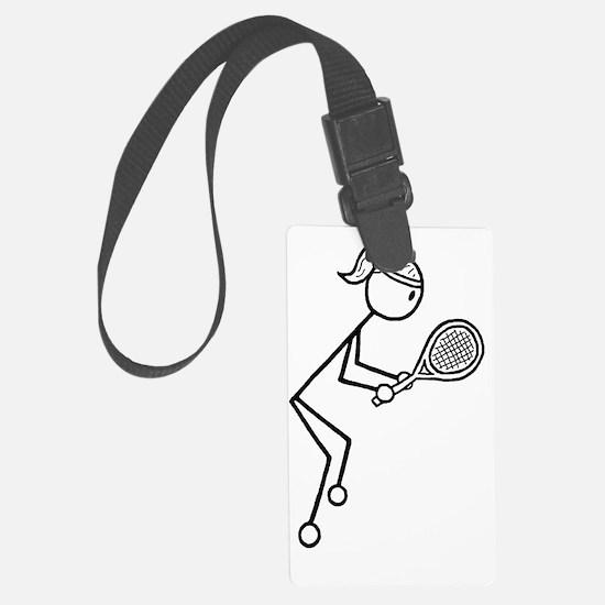 tennis girl2.gif Luggage Tag