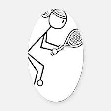 tennis girl2.gif Oval Car Magnet
