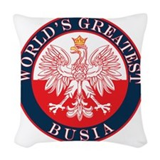 Worlds Greatest Busia Woven Throw Pillow