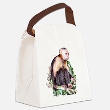 Capuchin  Monkey Canvas Lunch Bag