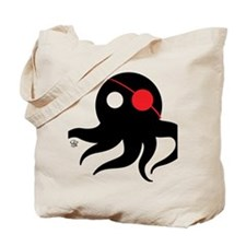Cthulhu Pirate Black/Red Tote Bag