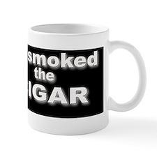 solo cigar bumper sticker onBlack Mug