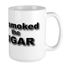 solo cigar bumper sticker on white Mug
