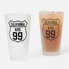 US Route 99 - California Drinking Glass