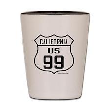 US Route 99 - California Shot Glass