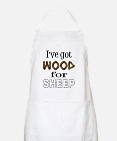 Wood for Sheep (text) Apron