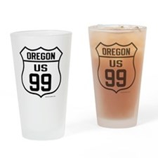 US Route 99 - Oregon Drinking Glass