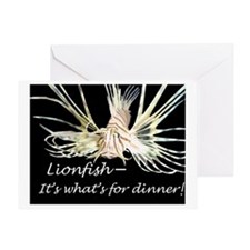 Max dinner border Greeting Card