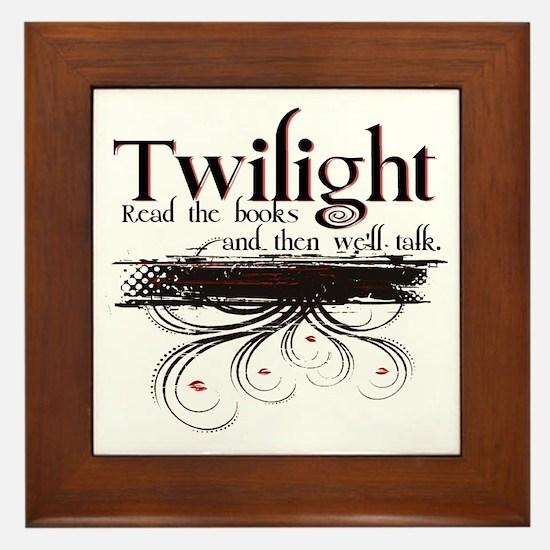 read twilight Framed Tile