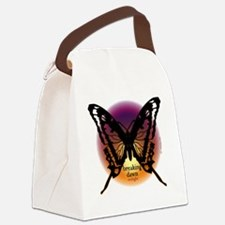 breaking dawn black butterfly by  Canvas Lunch Bag