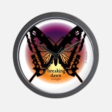 breaking dawn black butterfly by twibab Wall Clock