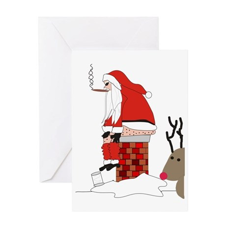 santa drawing gails Greeting Card
