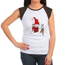 santa drawing gails Women's Cap Sleeve T-Shirt