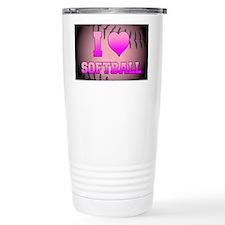 ilovesoftball_pink Travel Mug