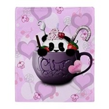 cute_hot_chocolate_panda_by_hazey198 Throw Blanket