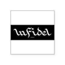 infidel sheik sticker dark black Sticker