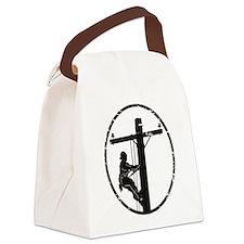 lineman born 1 Canvas Lunch Bag