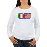 Italian American Women's Long Sleeve T-Shirt