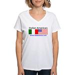 Italian American Women's V-Neck T-Shirt
