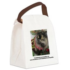 Cute Freida%2c the throw away kitty Canvas Lunch Bag