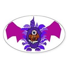 Purple People Eater Costume Decal