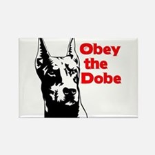 Obey the Dobe Rectangle Magnet