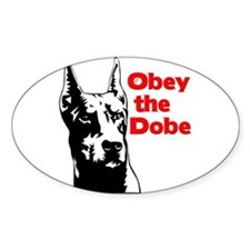 Obey the Dobe Oval Decal
