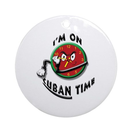 Cuban Time Ornament (Round)