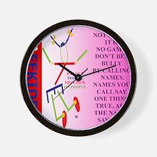 CALLING NAMES pnk.TI. Wall Clock