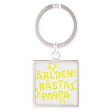 varldens-basta-pappa-001-gul Square Keychain
