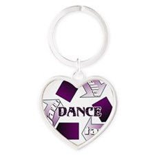 Recycle Dance by DanceShirts.com Heart Keychain