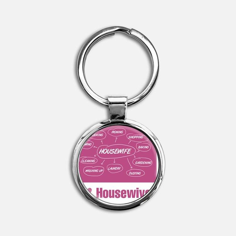 IHeartHousewives Round Keychain