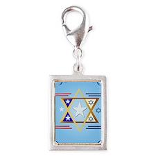 LargePosterAmerica-Israel Silver Portrait Charm