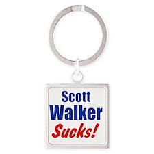 Scott Walker Sucks Square Keychain