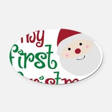 firstchristmas Oval Car Magnet