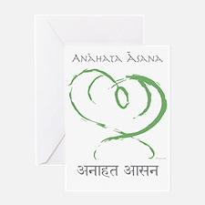 Anahata sanskrit back bend T-shirt Greeting Card