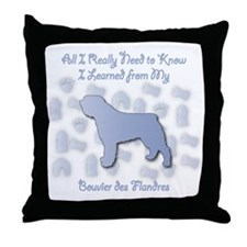 Learned Bouvier Throw Pillow