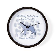 Learned Bouvier Wall Clock