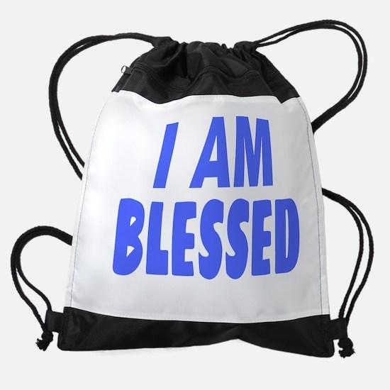 I Am Blessed Drawstring Bag