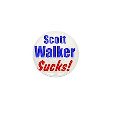 Scott Walker Sucks Mini Button