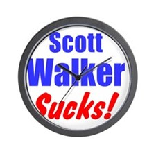 Scott Walker Sucks Wall Clock