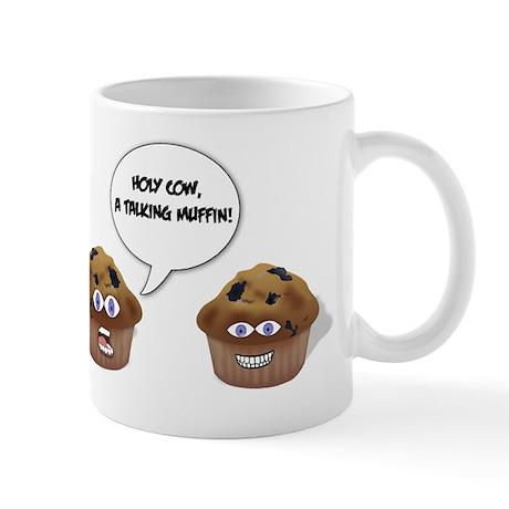 a talking muffin Mug