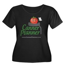 cannerpl Women's Plus Size Dark Scoop Neck T-Shirt