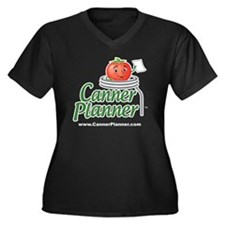 cannerplanne Women's Plus Size Dark V-Neck T-Shirt