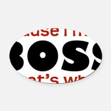Boss1 Oval Car Magnet