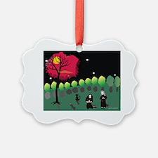 Moonlight Prayers in Garden Etsy Ornament